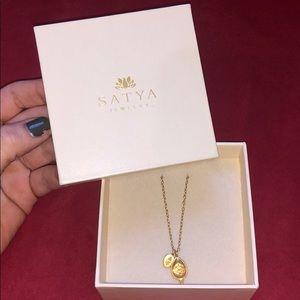Gold Satya Lotus Necklace